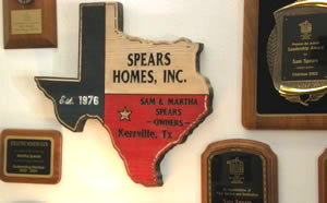Spears homes wall plaque