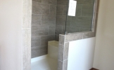 "72"" Walk-in Tile Shower"